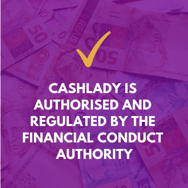 Cashlady is an authorised by FCA credit broker