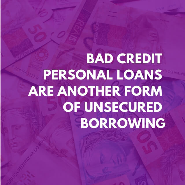 Banner explaining that you can try to get a personal loan with poor credit history