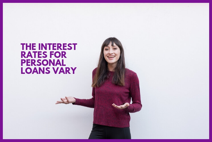 A woman explains how interest rates for personal loans vary