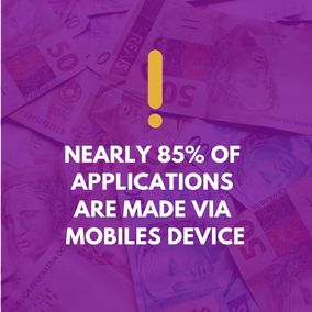 The data represents the usage of mobile devices for making online applications