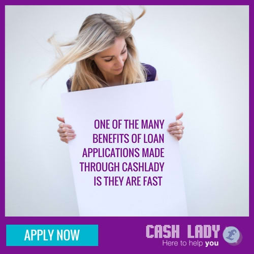 One of the many beenfits of cash loans applications through cash lady is they are fast