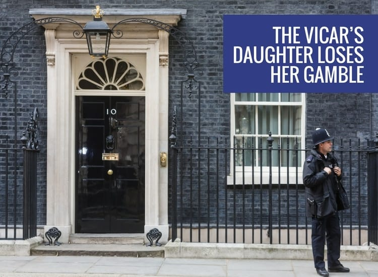 The Vicar's Daughter loses her gamble with support from the DUP