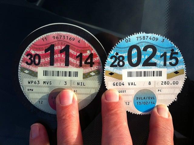Paper tax discs