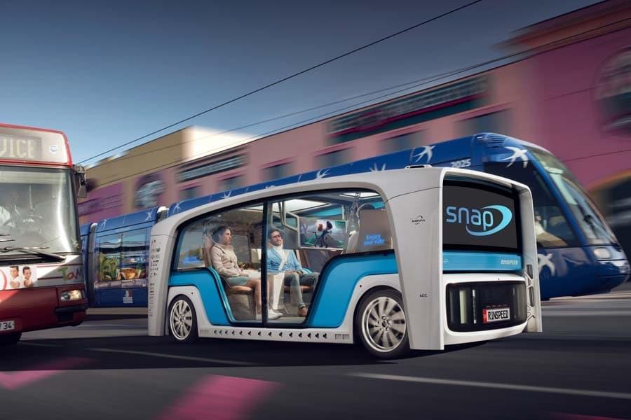 CES 2018 Rinspeed Snap Autonomous Car