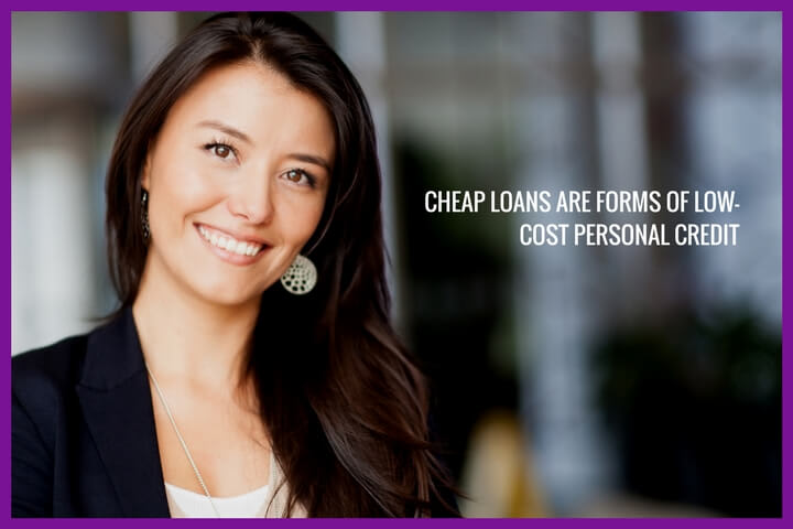 a young lady is smilling while talking about personal loans