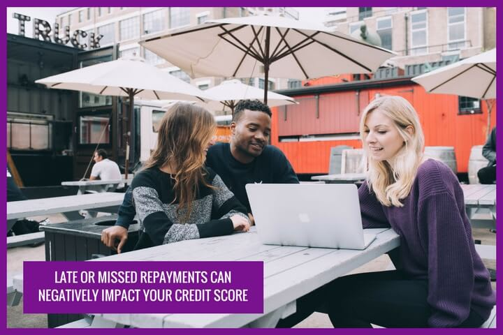 A missed payment can affect your credit score significantly. With an adverse credit it will be hard to apply for a payday loan in the future
