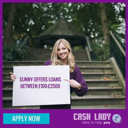 apply for Sunny loans of up to £2500