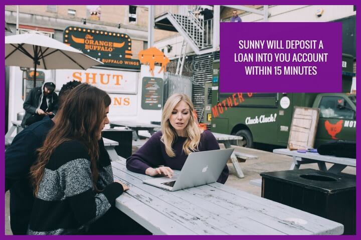get money in your pocket in 15 minutes with Sunny