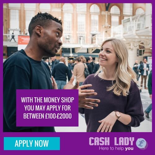 if you need £100 apply for a small loan with the Money Shop