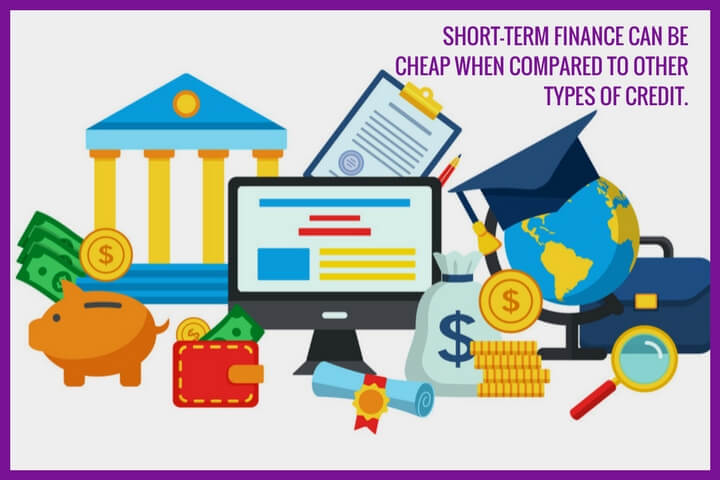 a cartoon-like image shows a bank, purse, coin, piggy bank and objects things related to finance