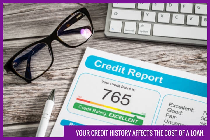 the image shows a personal credit report