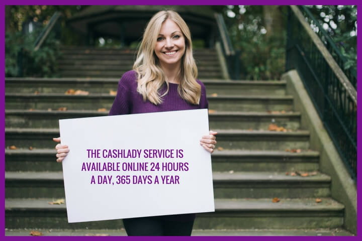 apply for quick and easy loans through Cashlady website 24/7