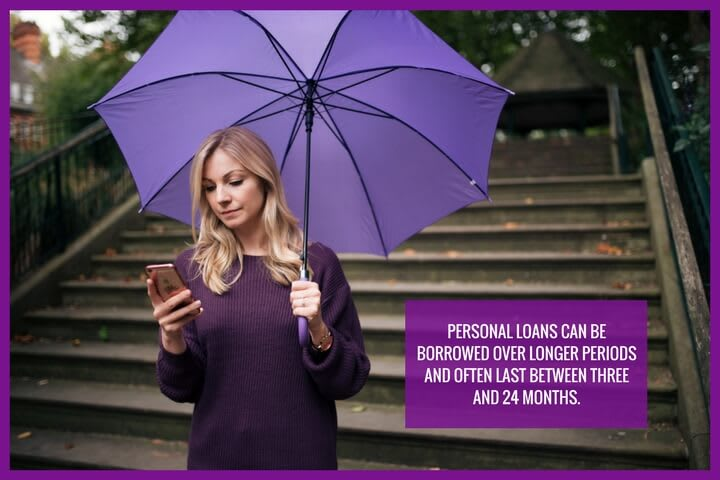 Small personal loans are usually repaid within 3 to 24 months