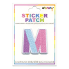 Picture of M Initial Color Block Sticker Patch