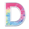Picture of D Initial Tie Dye Sticker Patch