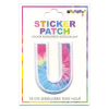 Picture of U Initial Tie Dye Sticker Patch