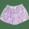 Picture of Unicorn Wishes Plush Shorts Medium (10-12)