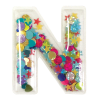 Picture of N Initial Confetti Sticker Patch