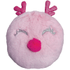 Picture of Pink Reindeer Furry Pillow