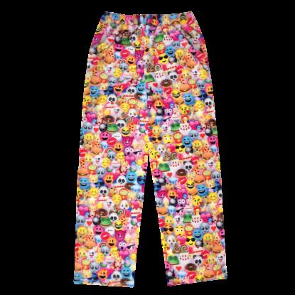 Picture of Emoji Collage Plush Pants