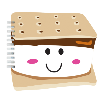 Picture of Smiley S'more Scented Notebook