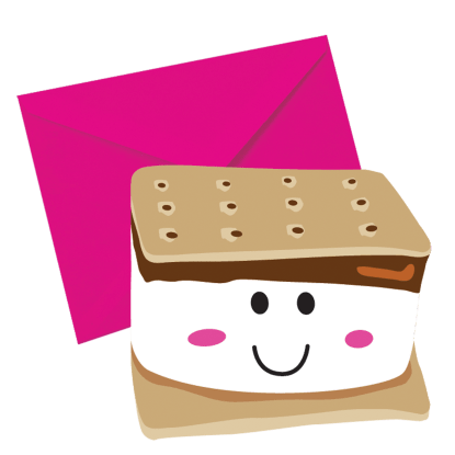 Picture of Smiley S'more Scented Notecards