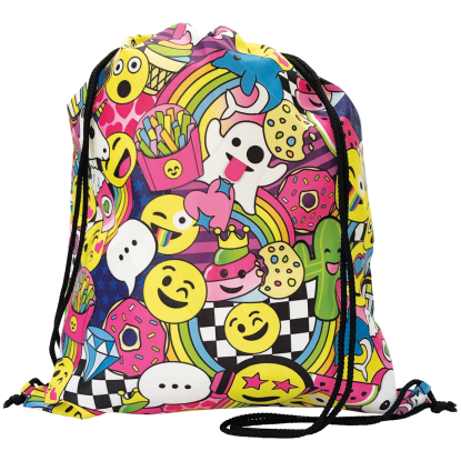 Picture of Emoji Party Drawstring Bag