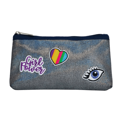 Picture of Metallic Denim Pencil Case