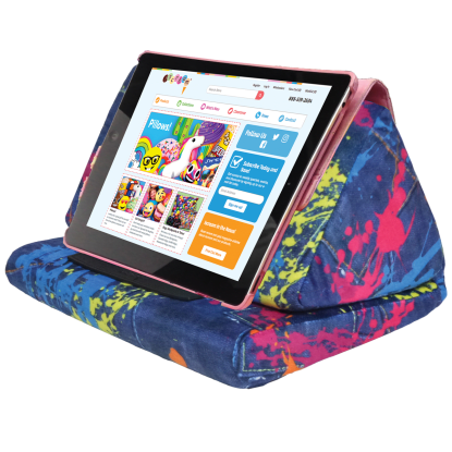 Picture of Paint Splatter Denim Tablet Pillow