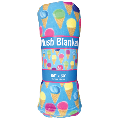 Picture of Watercolor Cones Plush Blanket