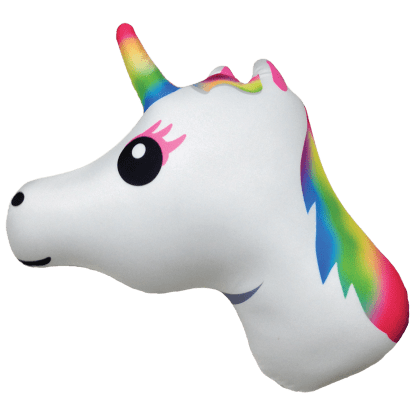 Picture of Rainbow Unicorn Emoji Microbead Pillow
