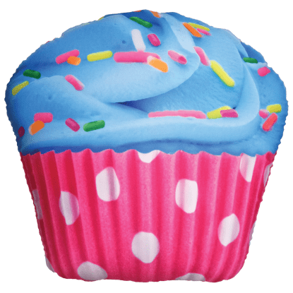 Picture of Polka Dot Cupcake Scented Microbead Pillow