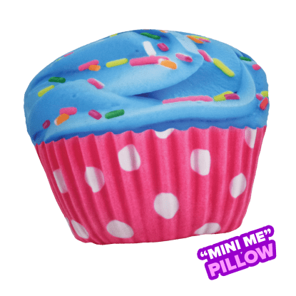 Picture of Mini Polka Dot Cupcake Scented Microbead Pillow