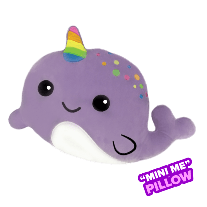 Picture of Mini Narwhal Scented Embroidered Pillow