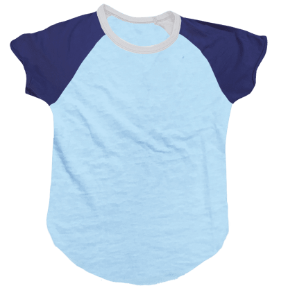 Picture of Burnout Blue/Dark Blue Baseball T-Shirt
