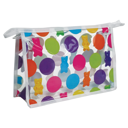 Picture of Polka Dot Gummy Bears Clear Travel Bag