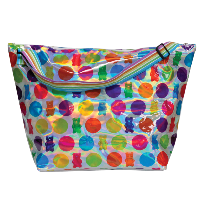 Picture of Polka Dot Gummy Bears Holographic Weekender Bag