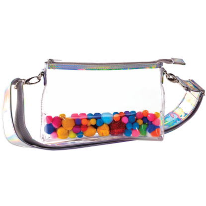 Picture of Pom Pom Clear Belt Bag