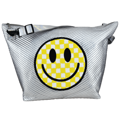 Picture of Checkered Smiley Face Weekender Bag