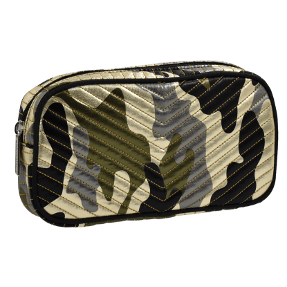 Picture of Metallic Camo Chevron Small Cosmetic Bag