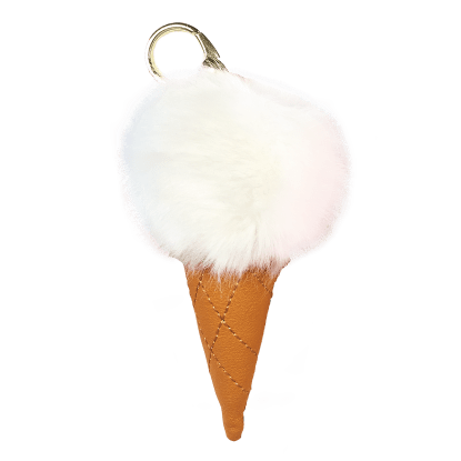 Picture of Ice Cream Furry Pom-Pom Clip White