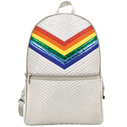 Picture of Silver Rainbow Chevron Backpack
