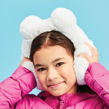 Picture of Pom-Pom Furry Earmuffs