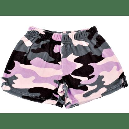 Picture of Purple Camo Plush Shorts