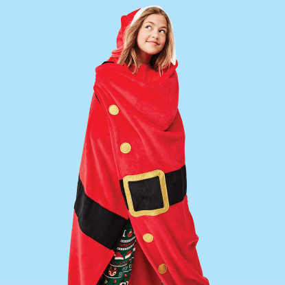 Picture of Santa Hooded Blanket