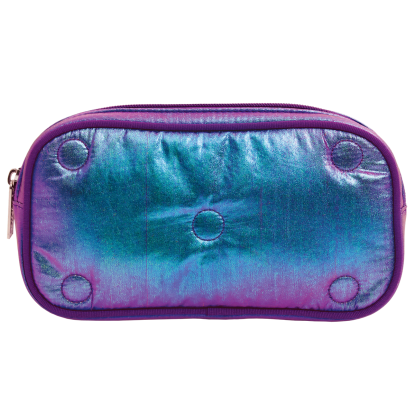 Picture of Shimmering Tufted Metallic Small Cosmetic Bag