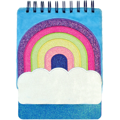 Picture of Rainbow Furry Glitter Journal