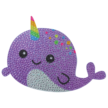 Picture of Narwhal Rhinestone Decals Large