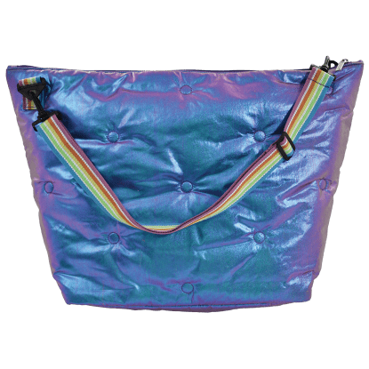 Picture of Shimmering Tufted  Metallic Weekender Bag