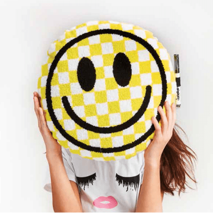 Picture of Checkered Smiley Face Autograph Pillow